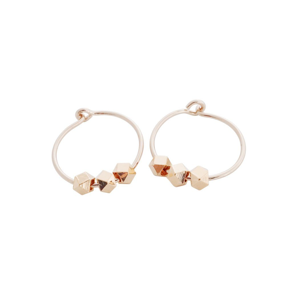 Comet Hoops Earrings HONEYCAT Jewelry Rose Gold