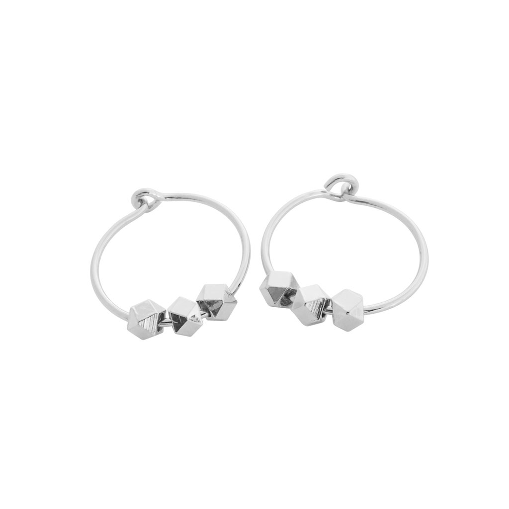 Comet Hoops Earrings HONEYCAT Jewelry Silver