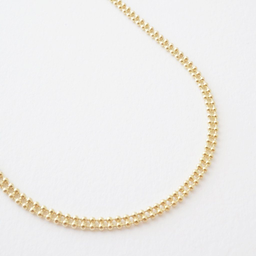 Double Ball Chain Choker-Necklace Necklaces HONEYCAT Jewelry Gold