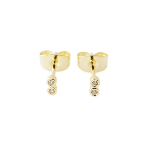 Double Crystal Stud Earrings