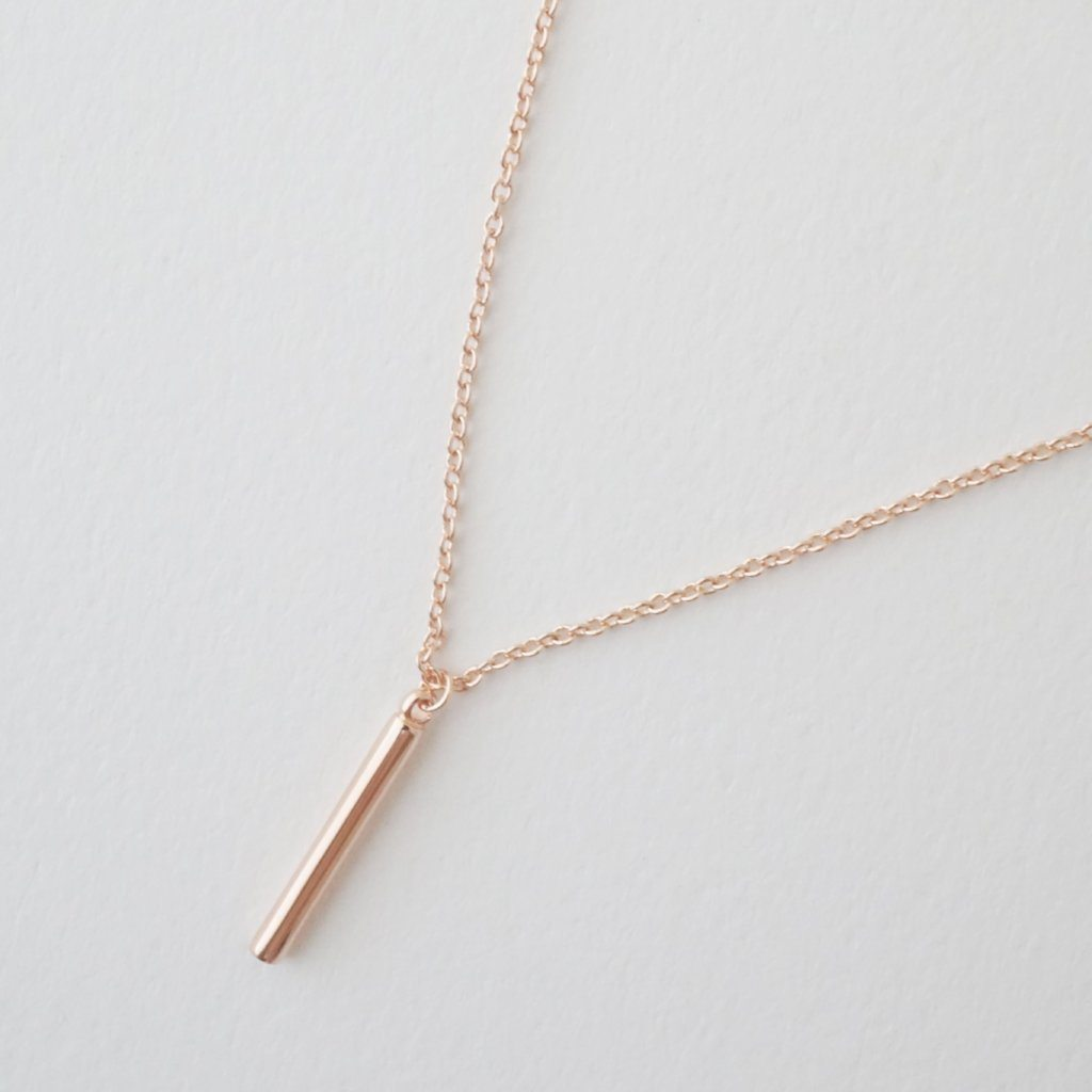 Pipette Bar Necklace Necklaces HONEYCAT Jewelry Rose Gold