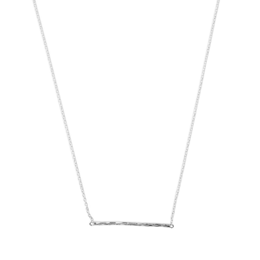 Hammered Classic Bar Necklace Necklaces HONEYCAT Jewelry