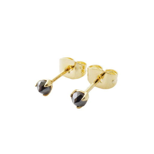 Iron Ore Point Solitaire Studs Earrings HONEYCAT Jewelry