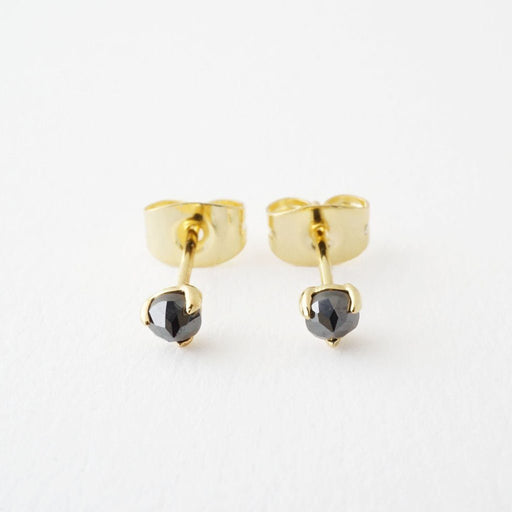 Iron Ore Point Solitaire Studs Earrings HONEYCAT Jewelry Gold