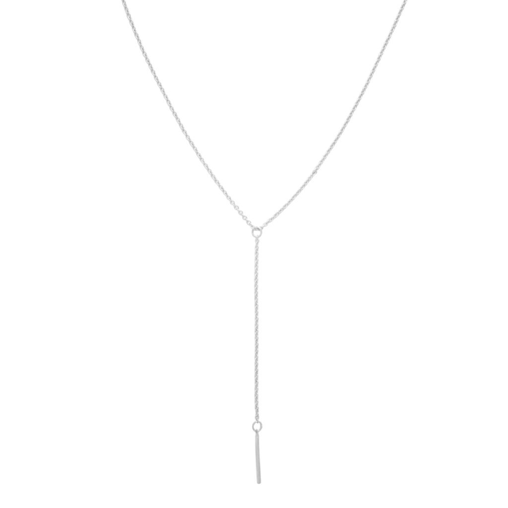 Long lariat gold necklace delicate gold silver necklace rose gold necklace silver lariat necklace y necklace thin vertical bar necklace