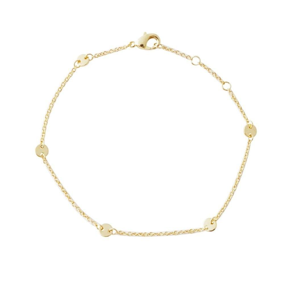 Milky Way Disc Chain Bracelet Bracelets HONEYCAT Jewelry Gold