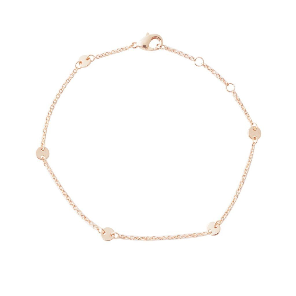 Milky Way Disc Chain Bracelet Bracelets HONEYCAT Jewelry Rose Gold