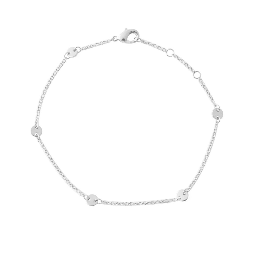 Milky Way Disc Chain Bracelet Bracelets HONEYCAT Jewelry Silver