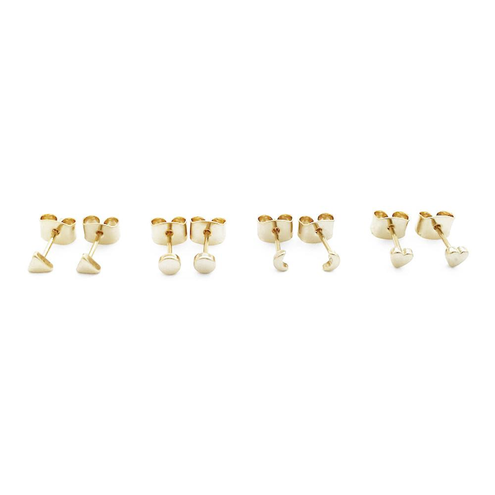 Mini Stud Earrings Quartet Earrings HONEYCAT Jewelry Gold