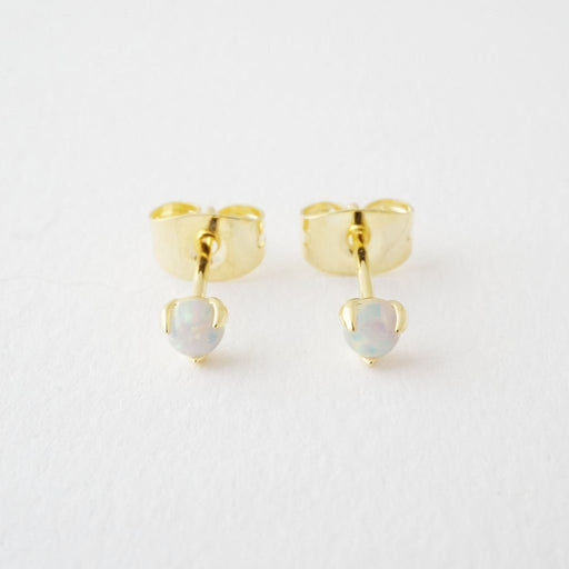 Opal Orb Solitaire Studs Earrings HONEYCAT Jewelry