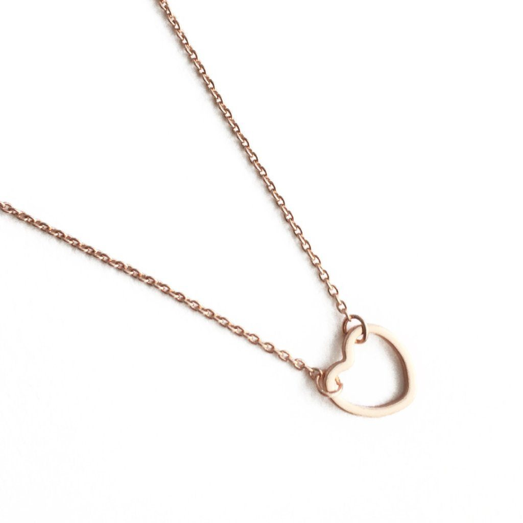 Open Heart Necklace - Final Sale Necklaces HONEYCAT Jewelry Rose Gold
