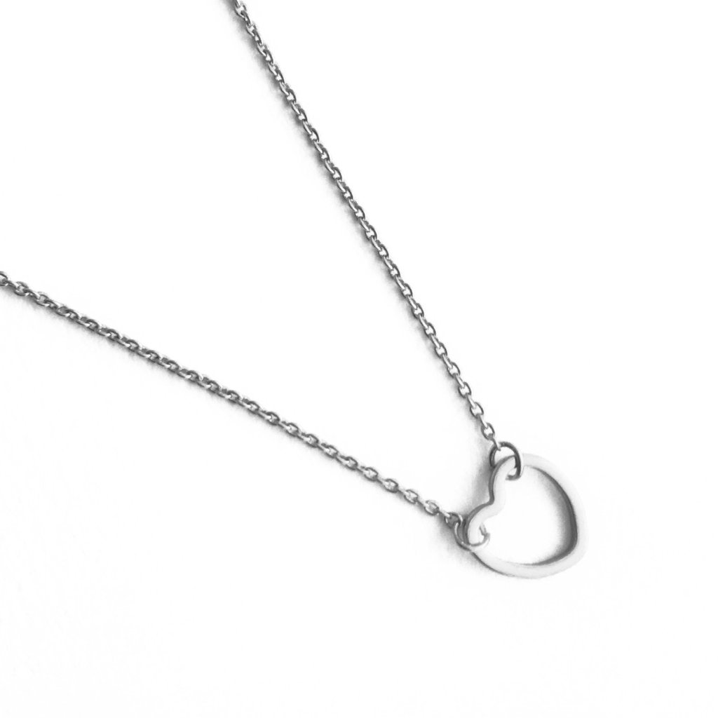 Open Heart Necklace - Final Sale Necklaces HONEYCAT Jewelry Silver