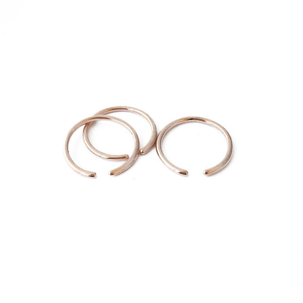 Open Skinny Stacking Ring Trio