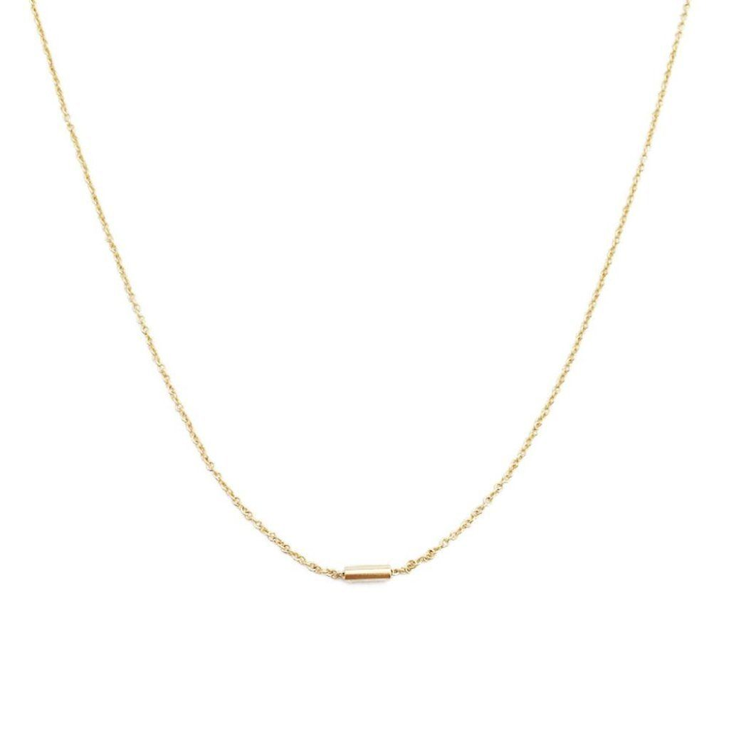Tiny Dash Pipe Bar Necklace Necklaces HONEYCAT Jewelry Gold