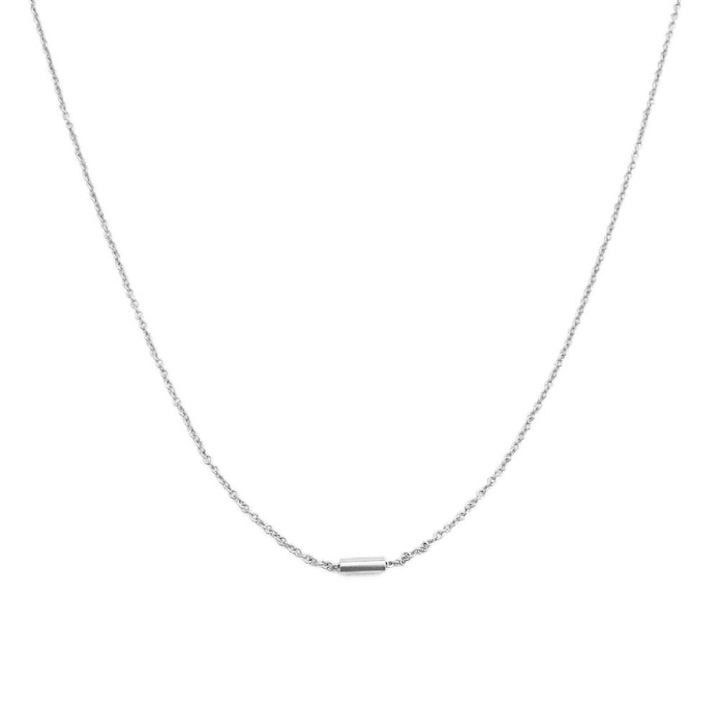 Tiny Dash Pipe Bar Necklace Necklaces HONEYCAT Jewelry Silver