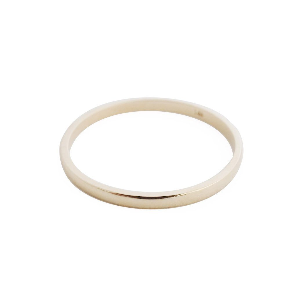 Classic Stacking Ring, 14k Gold Rings HONEYCAT Jewelry Gold 5