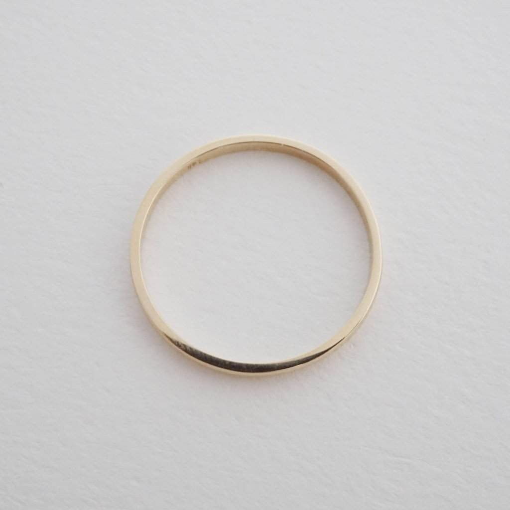 Classic Stacking Ring, 14k Gold Rings HONEYCAT Jewelry