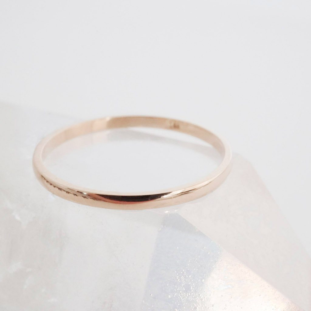 Classic Stacking Ring, 14k Gold Rings HONEYCAT Jewelry Rose Gold 5