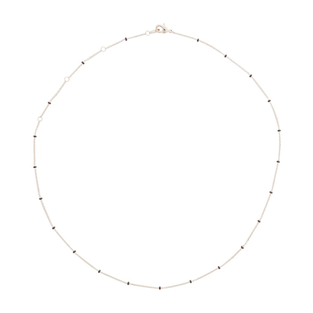 Mary Beaded Chain Necklace Necklaces HONEYCAT Jewelry Rose Gold