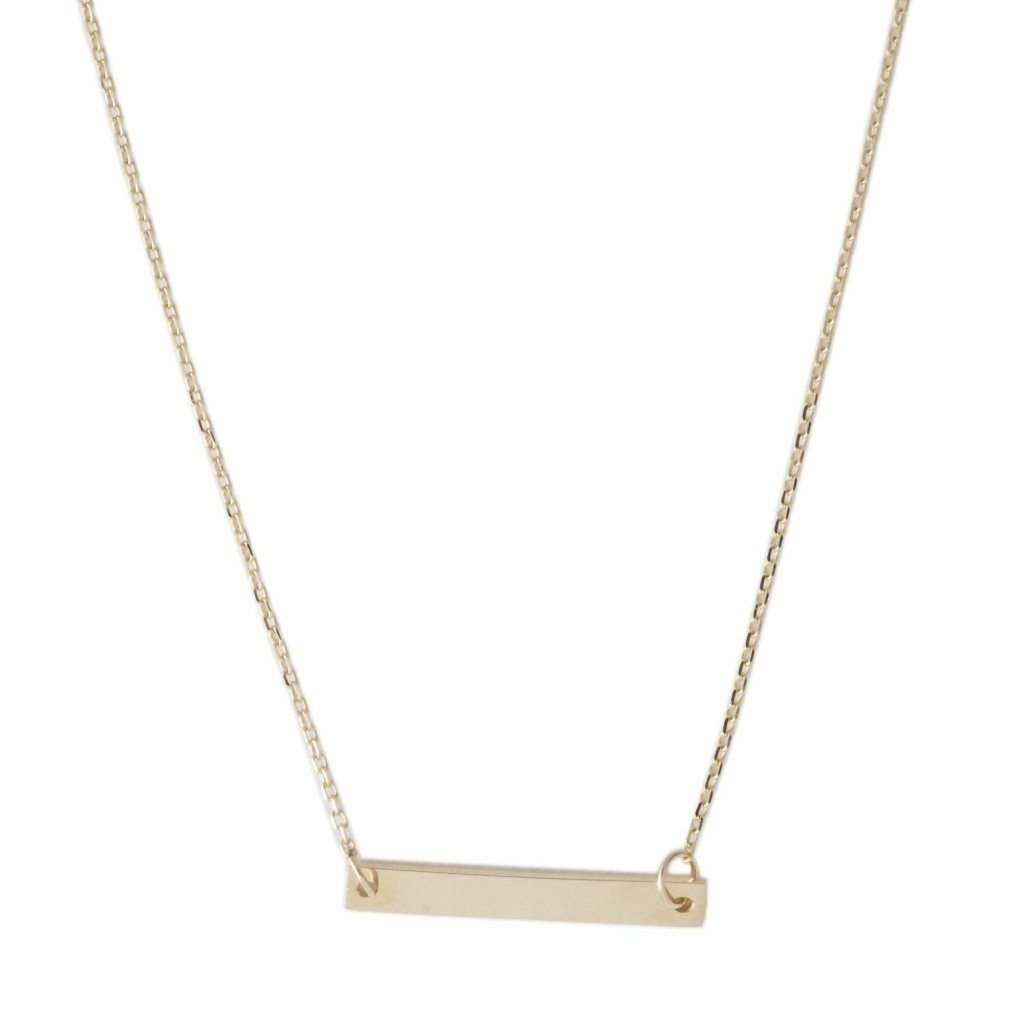 Mini Bar Necklace, 14k Gold