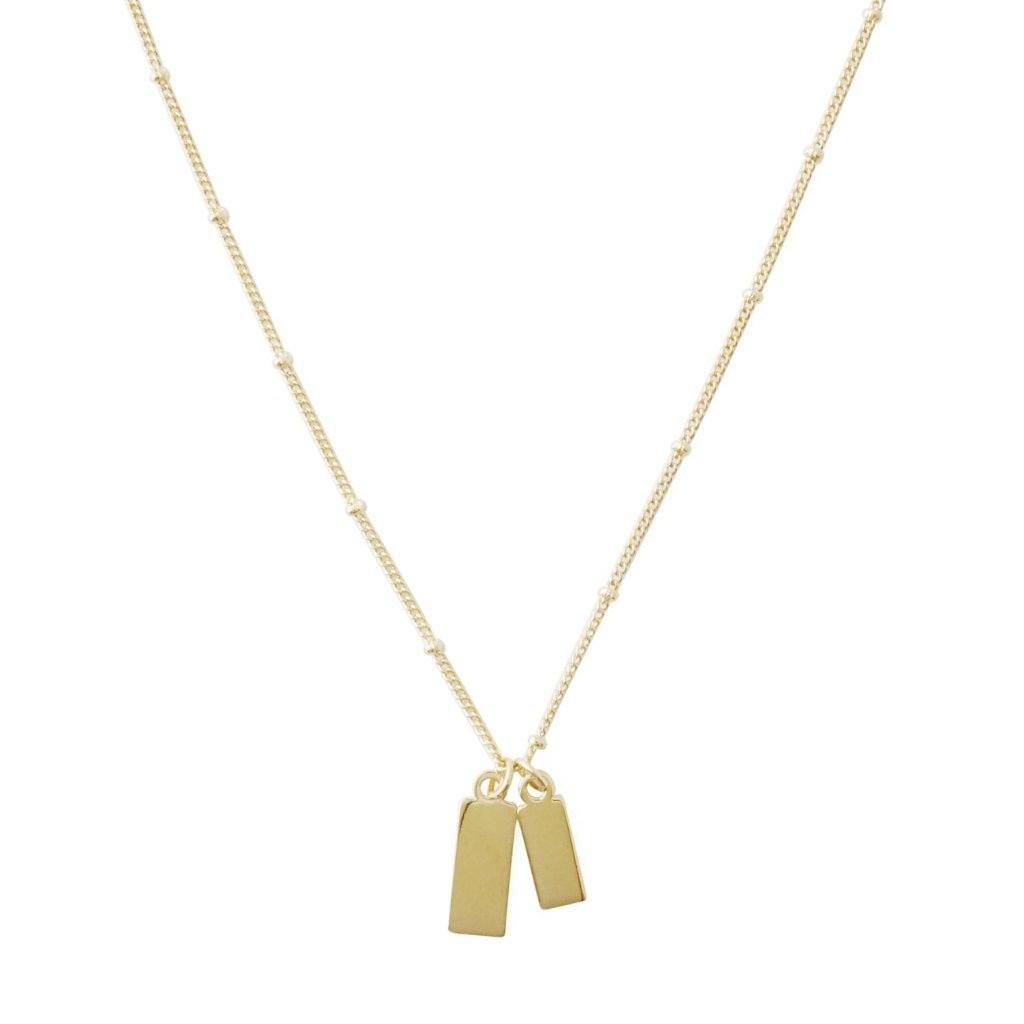 Tag Together Necklace Necklaces HONEYCAT Jewelry Gold
