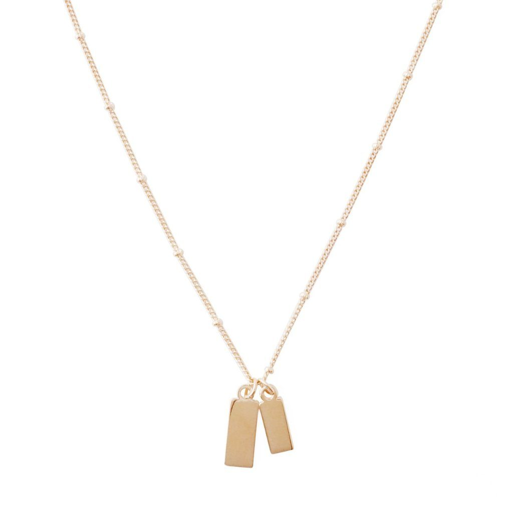 Tag Together Necklace Necklaces HONEYCAT Jewelry Rose Gold
