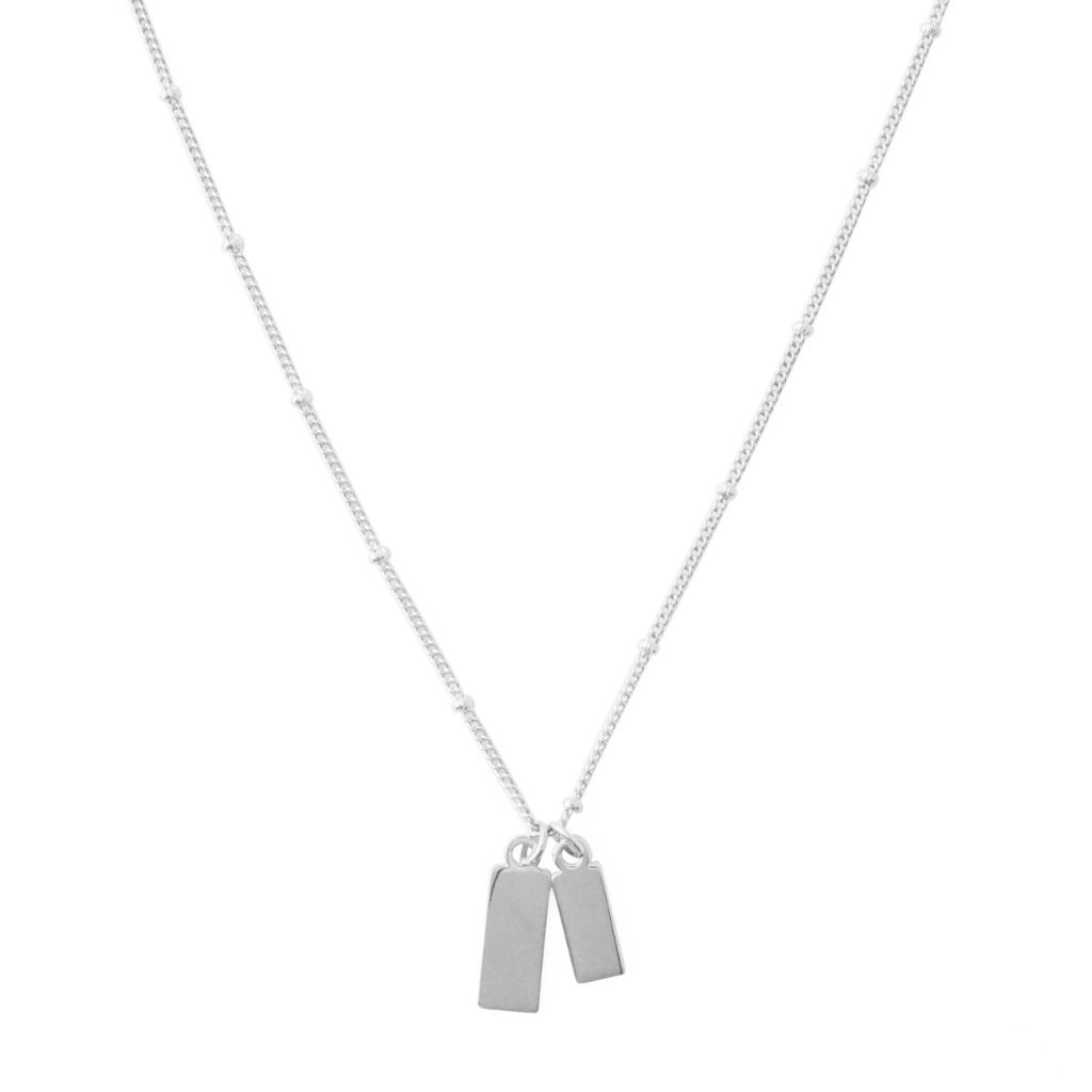 Tag Together Necklace Necklaces HONEYCAT Jewelry Silver