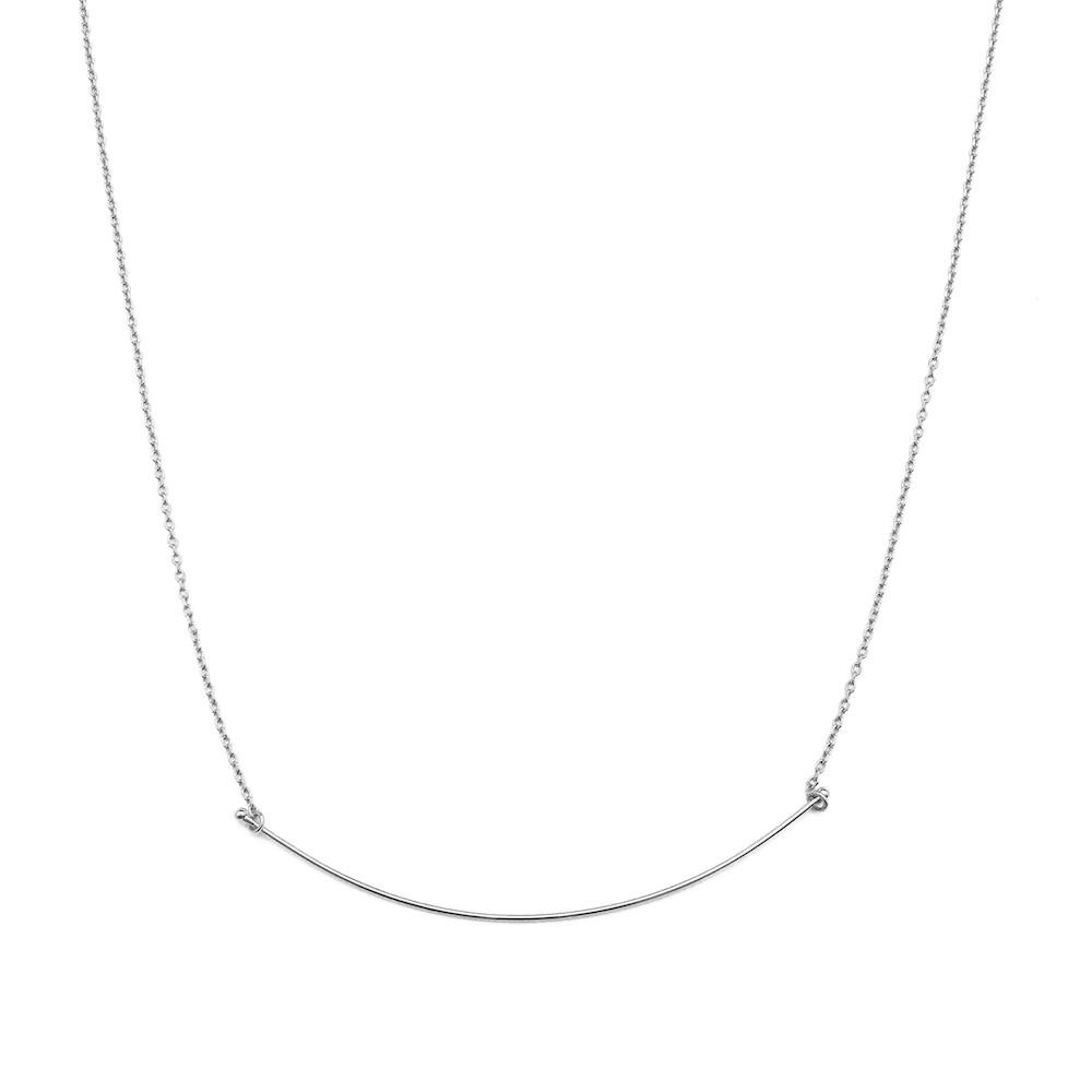 Willow Curve Bar Necklace - Final Sale Necklaces HONEYCAT Jewelry