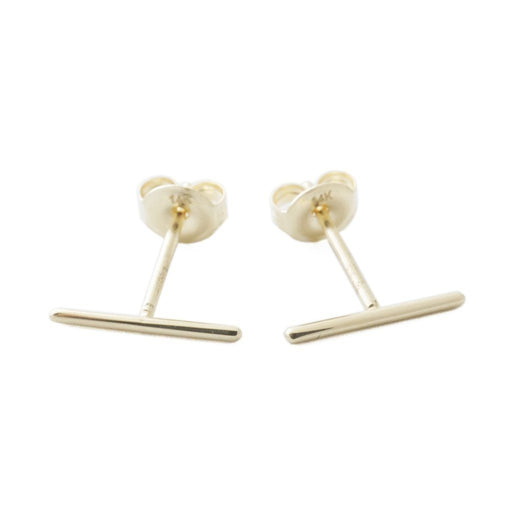 Skinny Midi Bar Earrings - 14k Gold