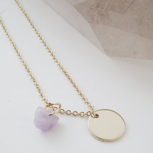 Karma Crystal + Disc Necklace