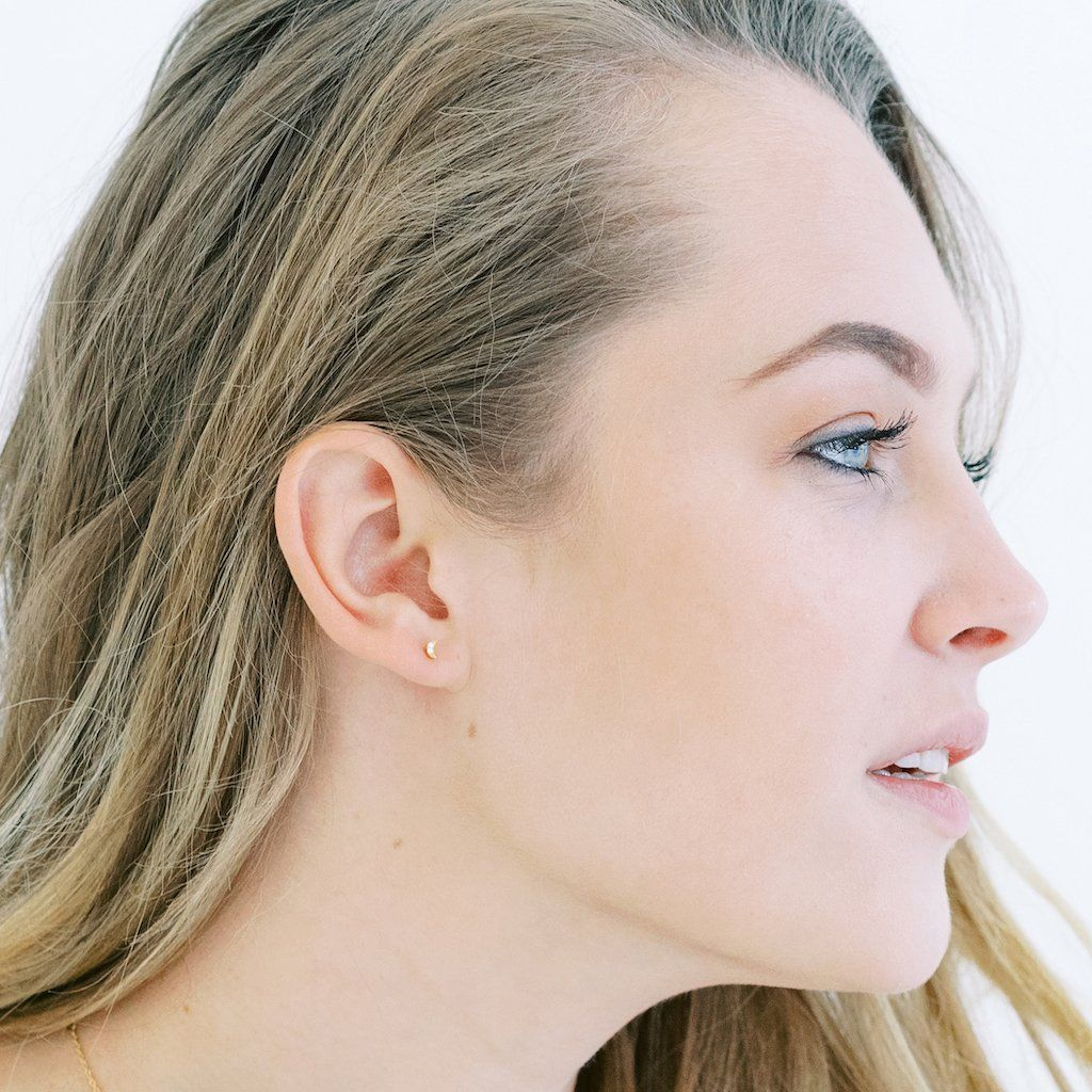 Mini Moon Crystal Stud Earrings Earrings HONEYCAT Jewelry