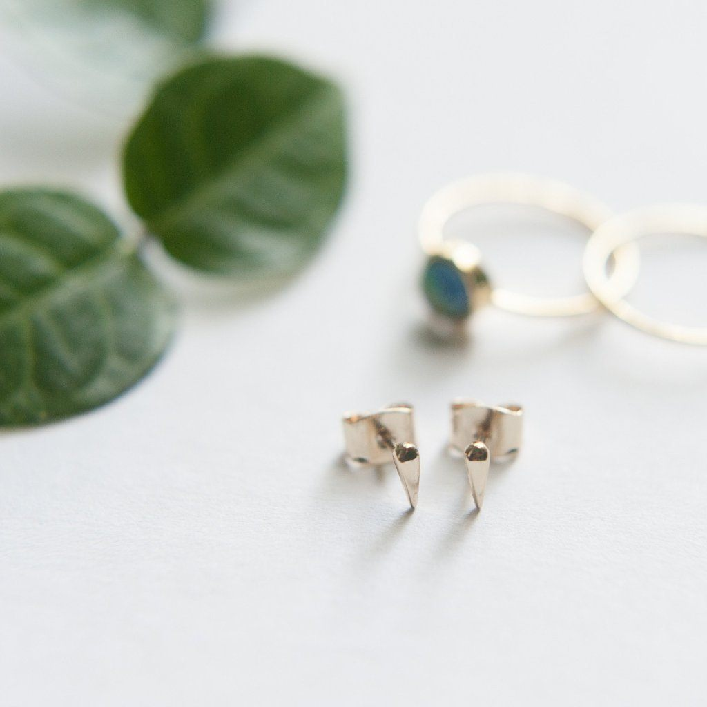 Tusk Droplet Stud Earrings
