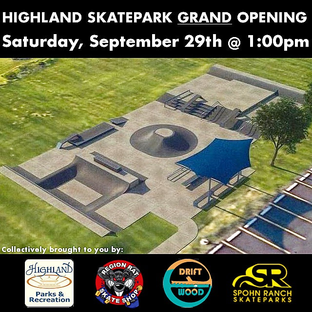 Highland Skatepark Grand Opening