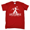Life Is Simple Eat Sleep Camp Mens T-Shirt