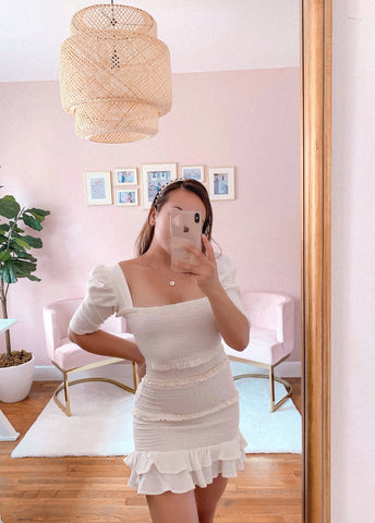 Anastasiya Off The Shoulder Midi Dress