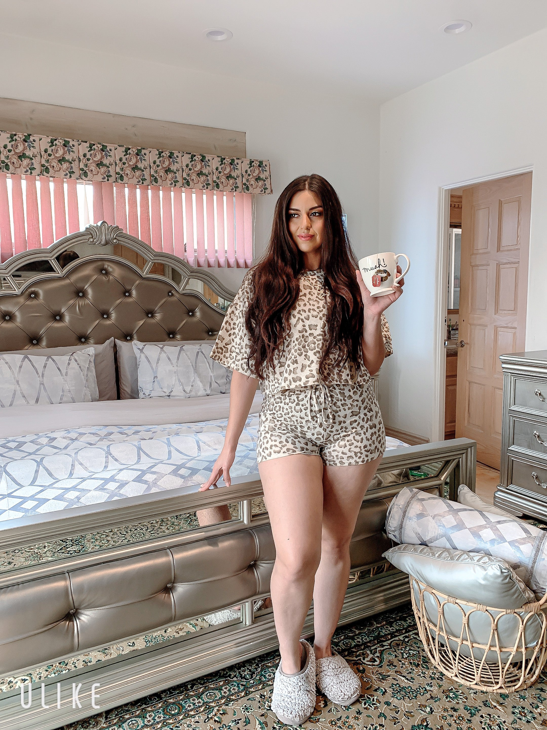 Gina Leopard Lounge Set