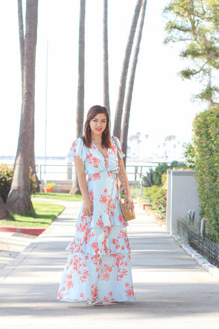 Christina Ruffle Maxi Dress