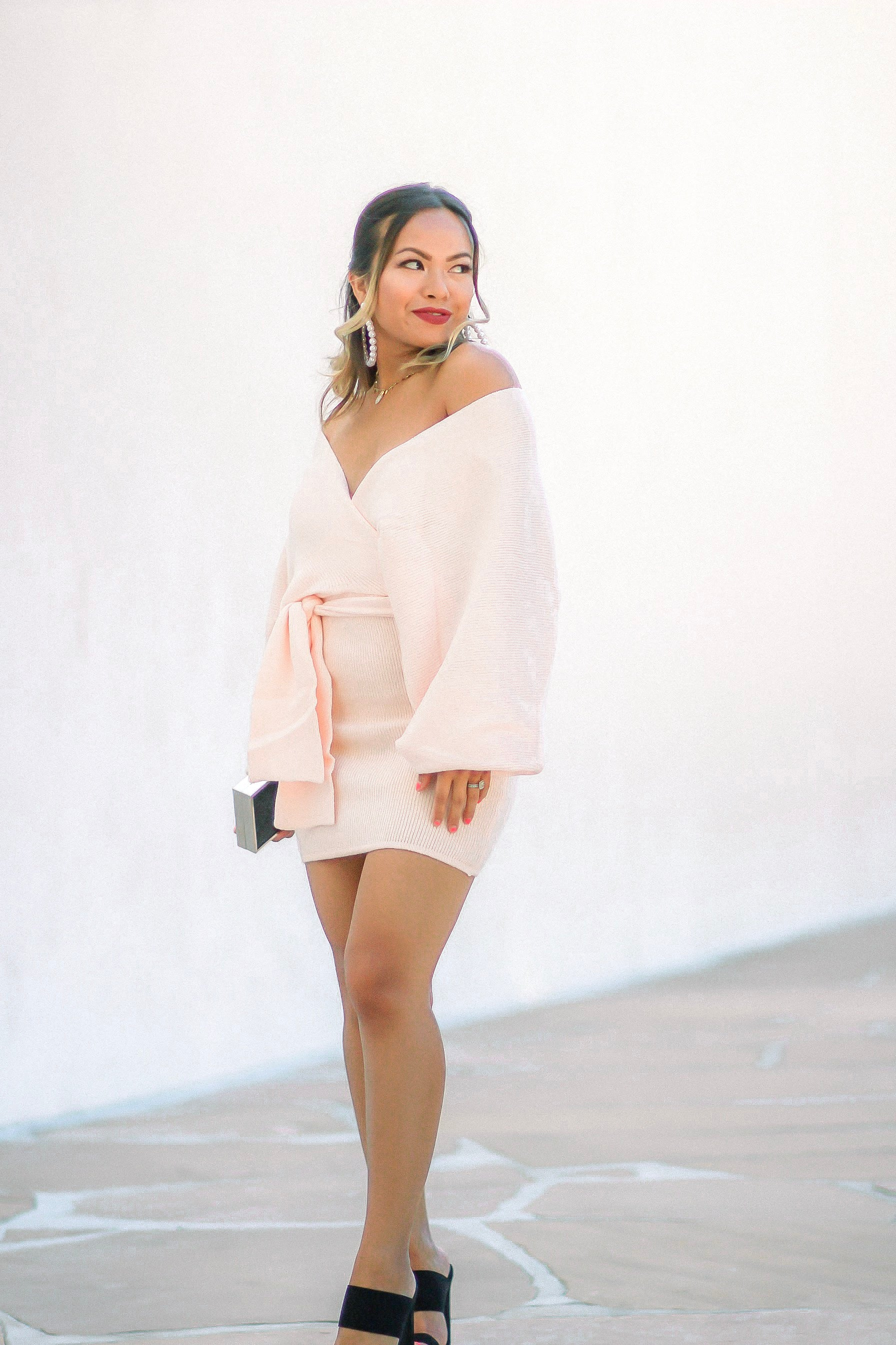 Ryla Pink Sweater Skirt Set - Blush Elegance