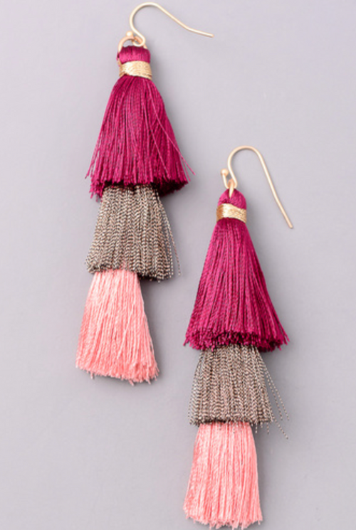 Shimmy Shake Tassel Earrings