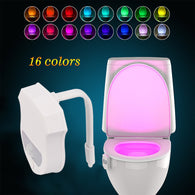 Upgraded 16 Colors Motion Activated LED Toilet Light