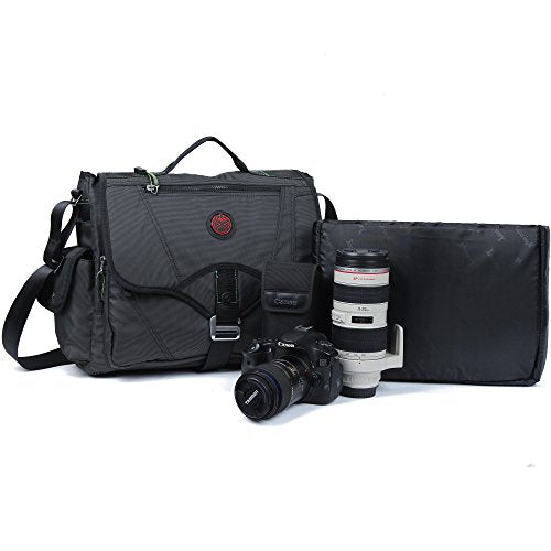15-Inch Laptop Messenger Bag for DSLR Cameras