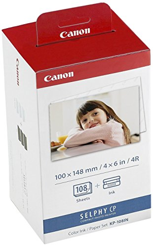 Canon KP-108IN Color Ink and 108 Sheet 4 x 6 Paper Set