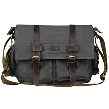 Vintage Canvas Camera Messenger Bag