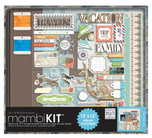 Travel Scrapbooking Kit, 12-Inch by 12-Inch