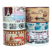 Travel Washi Tape - Set of 6 Rolls - 196 Feet Total
