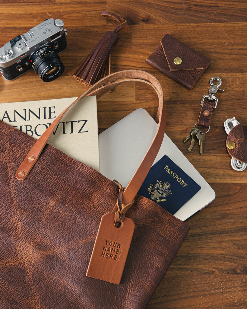 Tan Kodiak tote and accessories