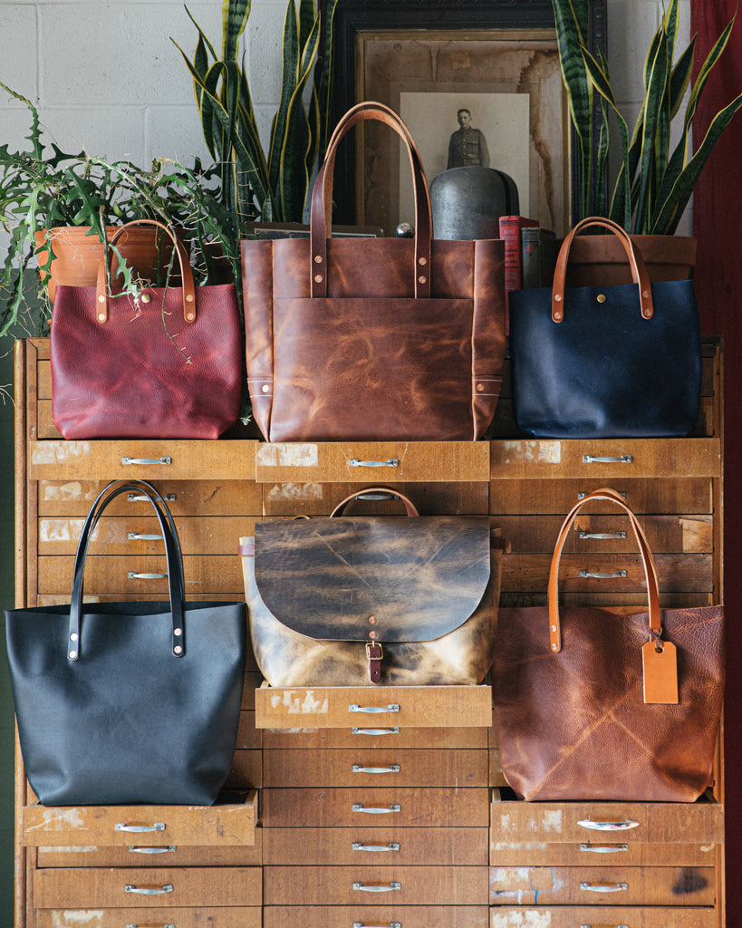 Leather bags handmade at KMM & Co.