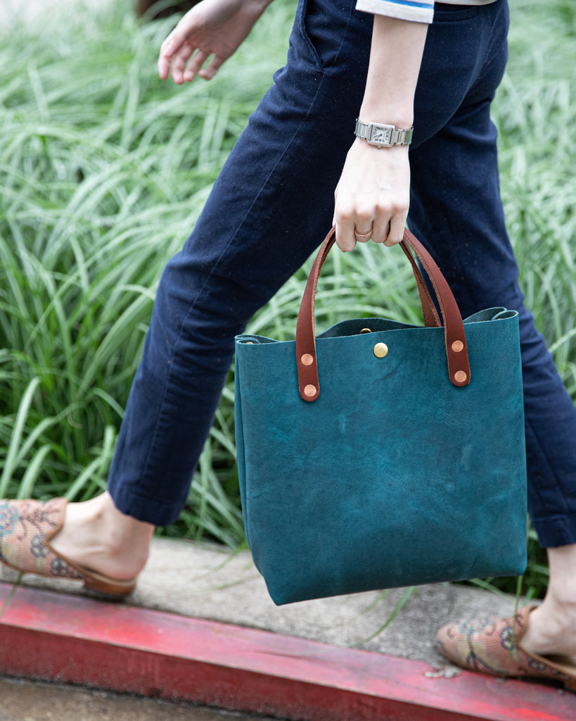 Atlantic Blue mini tote bag at KMM & Co.