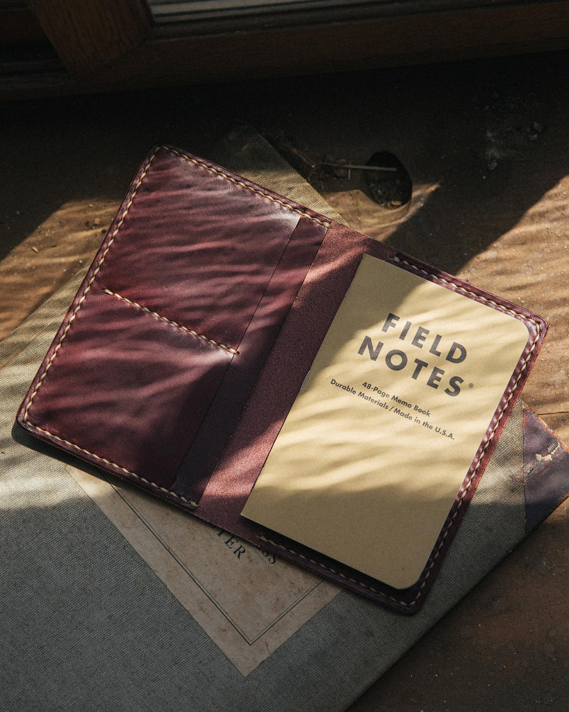 Leather notebook wallet at KMM & Co.