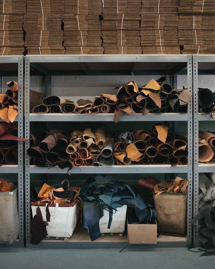 Leather at the KMM & Co. studio